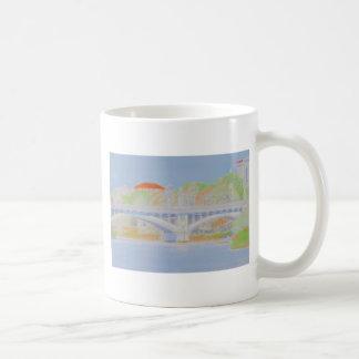 Watercolour Bridge Basic White Mug