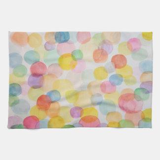 Watercolour Circles Kitchen Towel