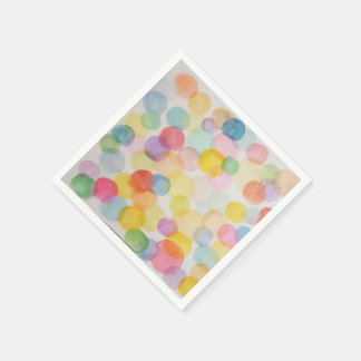 Watercolour Circles Paper Cocktail Napkins Disposable Napkin