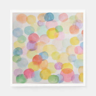Watercolour Circles Standard Luncheon Paper Napkin