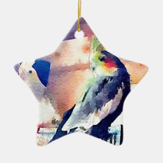 Watercolour Cockatiel Christmas Ornament