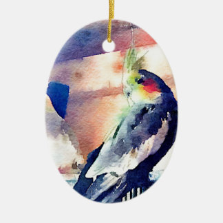 Watercolour Cockatiel Christmas Ornament
