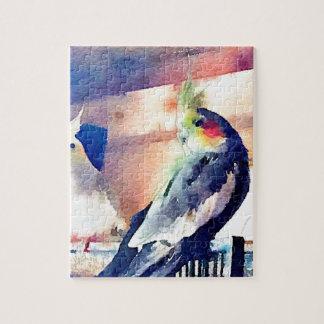 Watercolour Cockatiel Jigsaw Puzzle