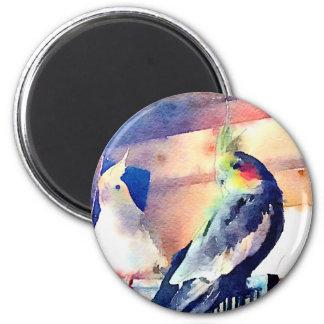 Watercolour Cockatiel Magnet