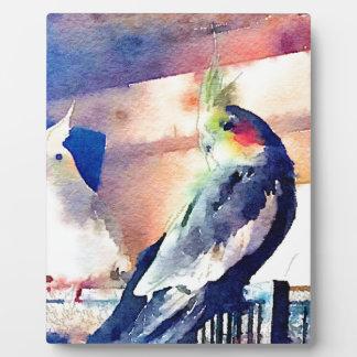 Watercolour Cockatiel Plaque