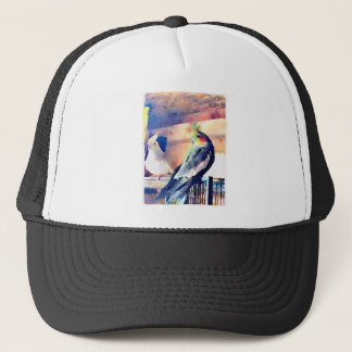 Watercolour Cockatiel Trucker Hat