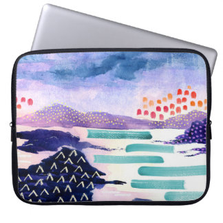 Watercolour Colourful Painting Laptop Sleeve
