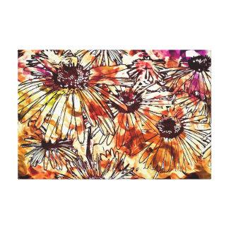 Watercolour Daisies Canvas Print