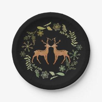 Watercolour Deer Paper Plates