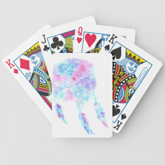 Watercolour Dreamcatcher Bicycle Playing Cards