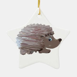 Watercolour Effect Hedgehog Christmas Ornament