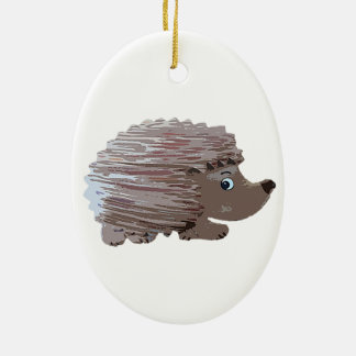 Watercolour Effect Hedgehog Christmas Ornament