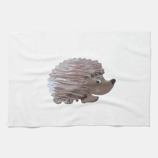 Watercolour Effect Hedgehog Tea Towel