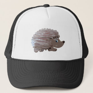 Watercolour Effect Hedgehog Trucker Hat