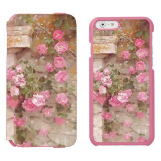 Watercolour Effect Pink Climbing Roses Incipio Watson™ iPhone 6 Wallet Case