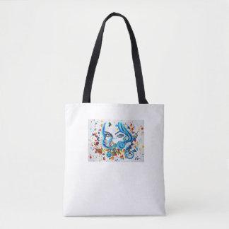 Watercolour eyes art bag