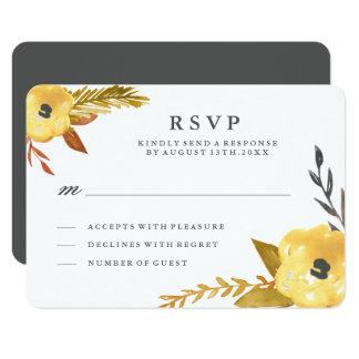 Watercolour Fall RSVP Card 9 Cm X 13 Cm Invitation Card