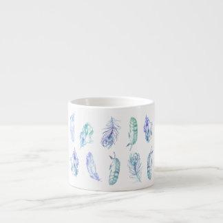 Watercolour Feather Espresso Mug