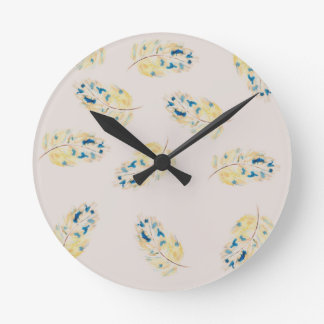 Watercolour  feather pattern clocks