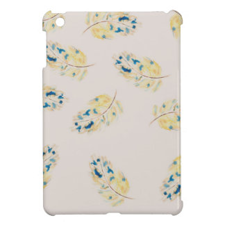 Watercolour  feather pattern cover for the iPad mini