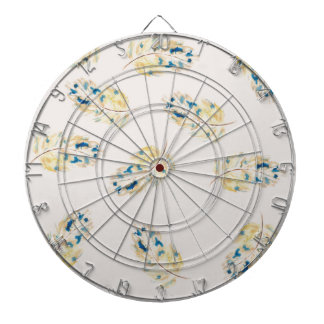 Watercolour  feather pattern dartboards