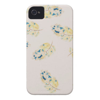 Watercolour  feather pattern iPhone 4 cover