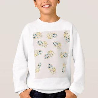 Watercolour  feather pattern sweatshirt
