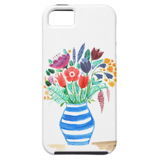 Watercolour Floral Blue Vase, Bright Flowers iPhone 5 Cover