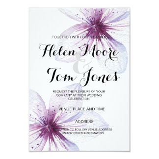 watercolour floral  Invitation