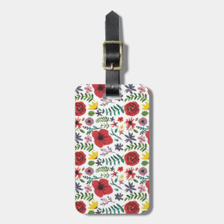 Watercolour Floral Pattern Luggage Tag