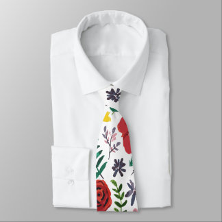 Watercolour Floral Pattern Tie
