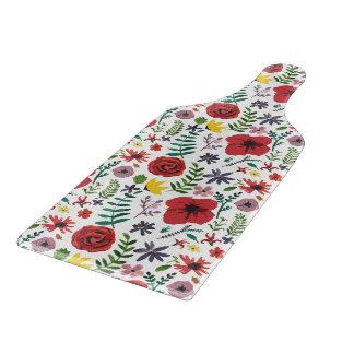Watercolour Florals Design Cutting Board