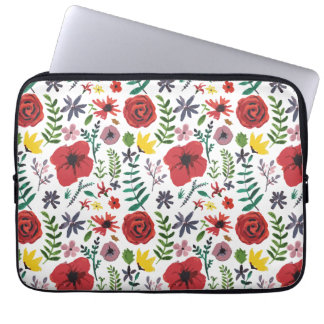 Watercolour Florals Design Laptop Sleeve