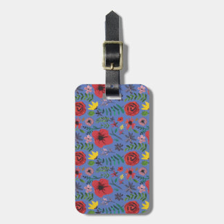 Watercolour Florals Luggage Tag