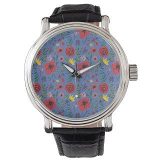 Watercolour Florals Watch