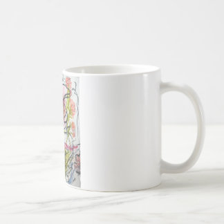 Watercolour flower coffee mug