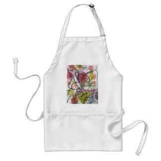 Watercolour flower standard apron