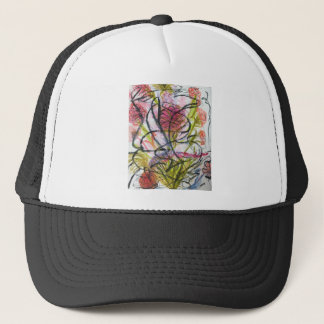Watercolour flower trucker hat