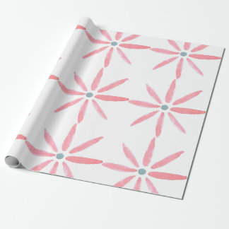 Watercolour flower wrapping paper