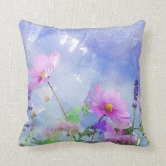 Watercolour Flowers Cushion