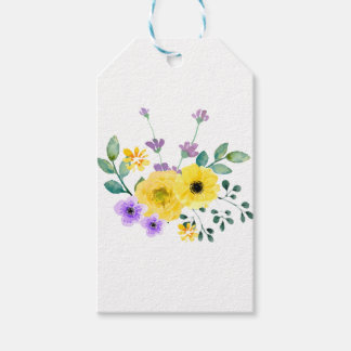 Watercolour flowers gift tags