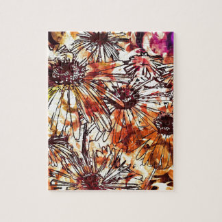 Watercolour Flowers Jigsaw Puzzle