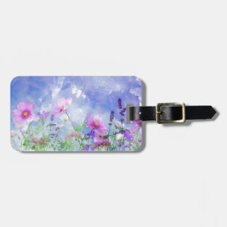 Watercolour flowers luggage tag