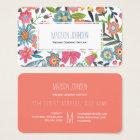Watercolour Flowers | Monogram | Business Cards