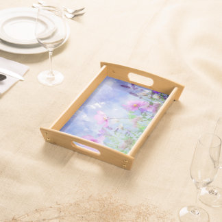 Watercolour flowers tray