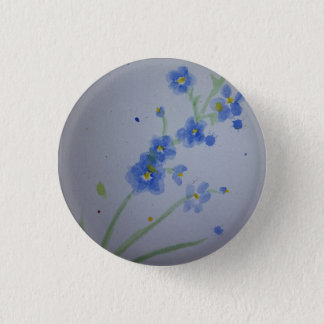 Watercolour forget-me-not badge