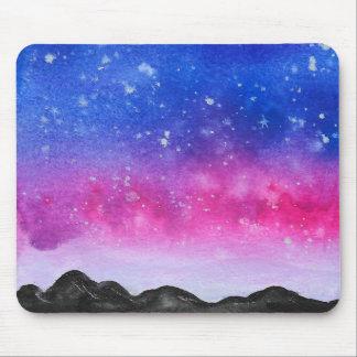 Watercolour Galaxy Mouse Mat