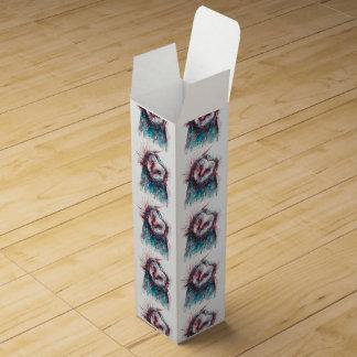 Watercolour Geometric Owl Wine Box