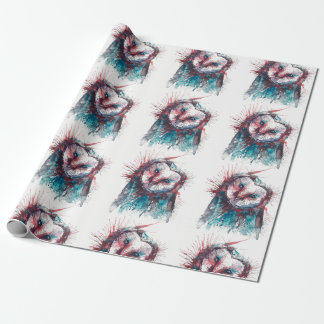 Watercolour Geometric Owl Wrapping Paper