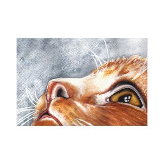 Watercolour Ginger Cat Canvas Print